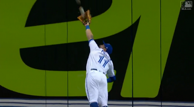 Kevin Pillar made yet another amazing defensive play. (MLB.com Screenshot)