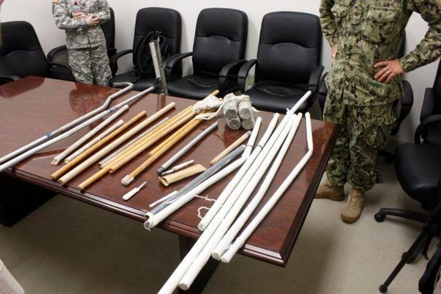 Other weapons included broom sticks and shanks.