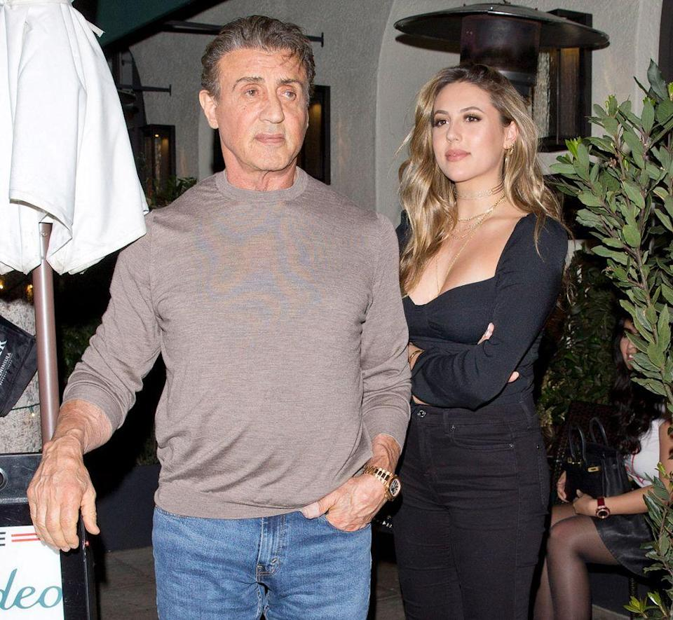 Stallone Family Outing! Sylvester and Wife Jennifer Flavin ...