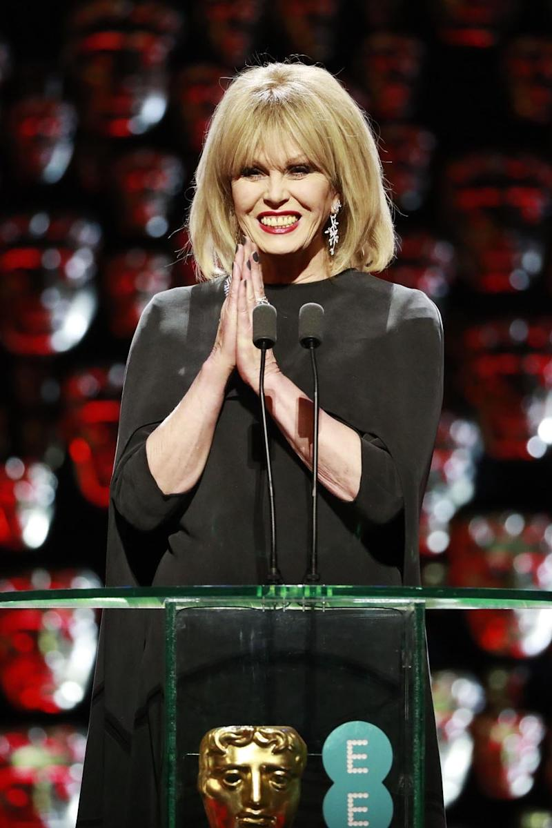 Hostess with the mostess: Actress Joanna Lumley (Guy Levy/BAFTA/Rex)