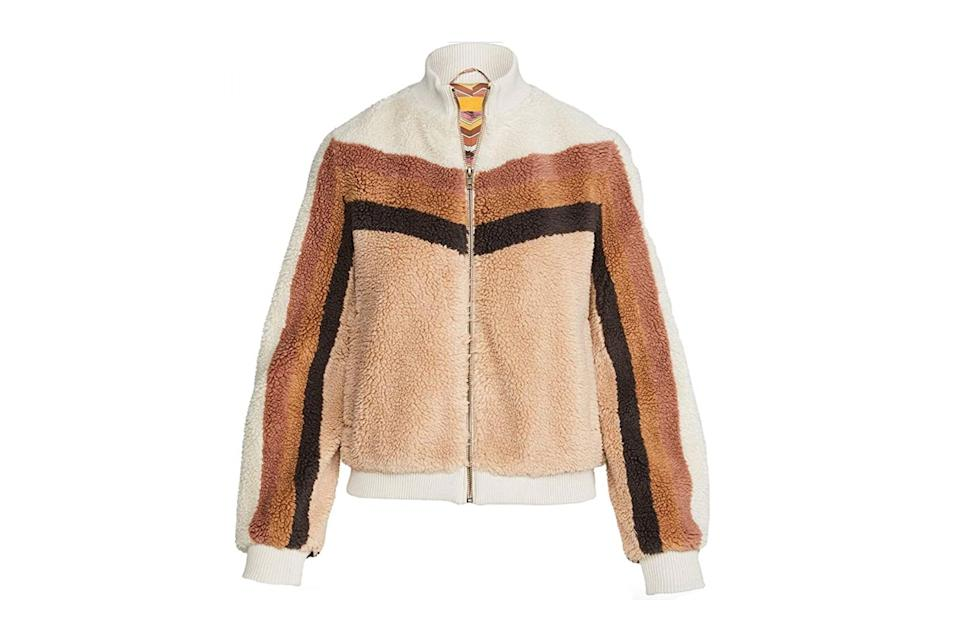 "$395, Amazon. <a href=""https://www.amazon.com/MOTHER-Womens-Striped-Letterman-Jacket/dp/B08FRT7V57?s=shopbop&ref_=sb_ts"" rel=""nofollow noopener"" target=""_blank"" data-ylk=""slk:Get it now!"" class=""link rapid-noclick-resp"">Get it now!</a>"