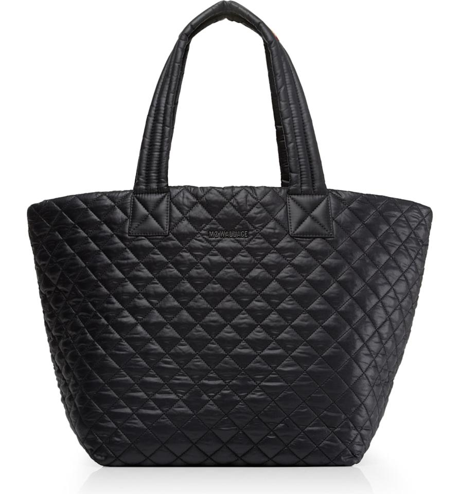 "<p>This <a href=""https://www.popsugar.com/buy/MZ-Wallace-Medium-Metro-Tote-496043?p_name=MZ%20Wallace%20Medium%20Metro%20Tote&retailer=shop.nordstrom.com&pid=496043&price=225&evar1=savvy%3Aus&evar9=45472837&evar98=https%3A%2F%2Fwww.popsugar.com%2Fsmart-living%2Fphoto-gallery%2F45472837%2Fimage%2F46696204%2FMZ-Wallace-Medium-Metro-Tote&list1=shopping%2Cgifts%2Choliday%2Cwork%2Cgift%20guide%2Ccommute%2Ctravel%20tips%2Cgifts%20for%20women%2Cgifts%20for%20men&prop13=mobile&pdata=1"" rel=""nofollow"" data-shoppable-link=""1"" target=""_blank"" class=""ga-track"" data-ga-category=""Related"" data-ga-label=""https://shop.nordstrom.com/s/mz-wallace-medium-metro-tote/3720048?origin=keywordsearch-personalizedsort&amp;breadcrumb=Home%2FAll%20Results&amp;color=fawn%20black%20colorblock"" data-ga-action=""In-Line Links"">MZ Wallace Medium Metro Tote</a> ($225) is one of the few tote bags with a zipper, making it ideal for those who are constantly on the go.</p>"
