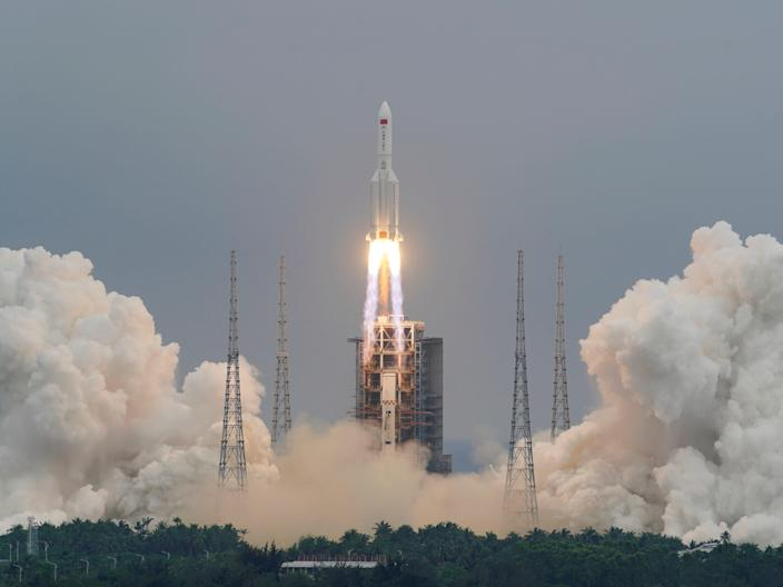 module tianhe launch space station China long March 5B Y2 rocket
