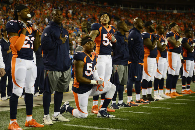 Years later, Brandon Marshall hopes that people are finally ready to understand the message he, Colin Kaepernick and others were trying to share in 2016. (Joe Amon/The Denver Post/Getty Images)