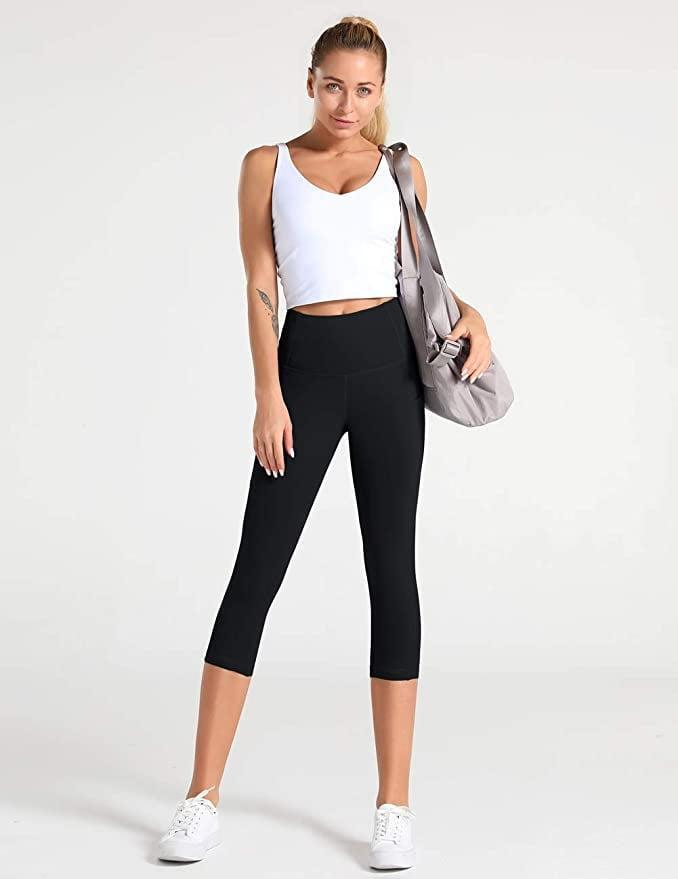 <p>With four-way stretch and a thick, opaque fabric, many customers prefer these cropped <span>Dragon Fit High Waist Yoga Pants</span> ($23) to much higher-priced designer alternatives. Plus, they're cropped, which is great for super sweaty activities.</p>