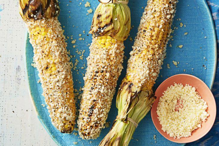 "<p>The classic Mexican street food (aka elote) — topped with chili-lime mayo and cheese — is pretty much the most fun way ever to enjoy corn on the cob.</p><p><em><em><em><a href=""https://www.goodhousekeeping.com/food-recipes/a38825/mexican-grilled-corn-recipe"" rel=""nofollow noopener"" target=""_blank"" data-ylk=""slk:Get the recipe for Mexican Grilled Corn »"" class=""link rapid-noclick-resp"">Get the recipe for Mexican Grilled Corn »</a></em> </em></em> </p>"