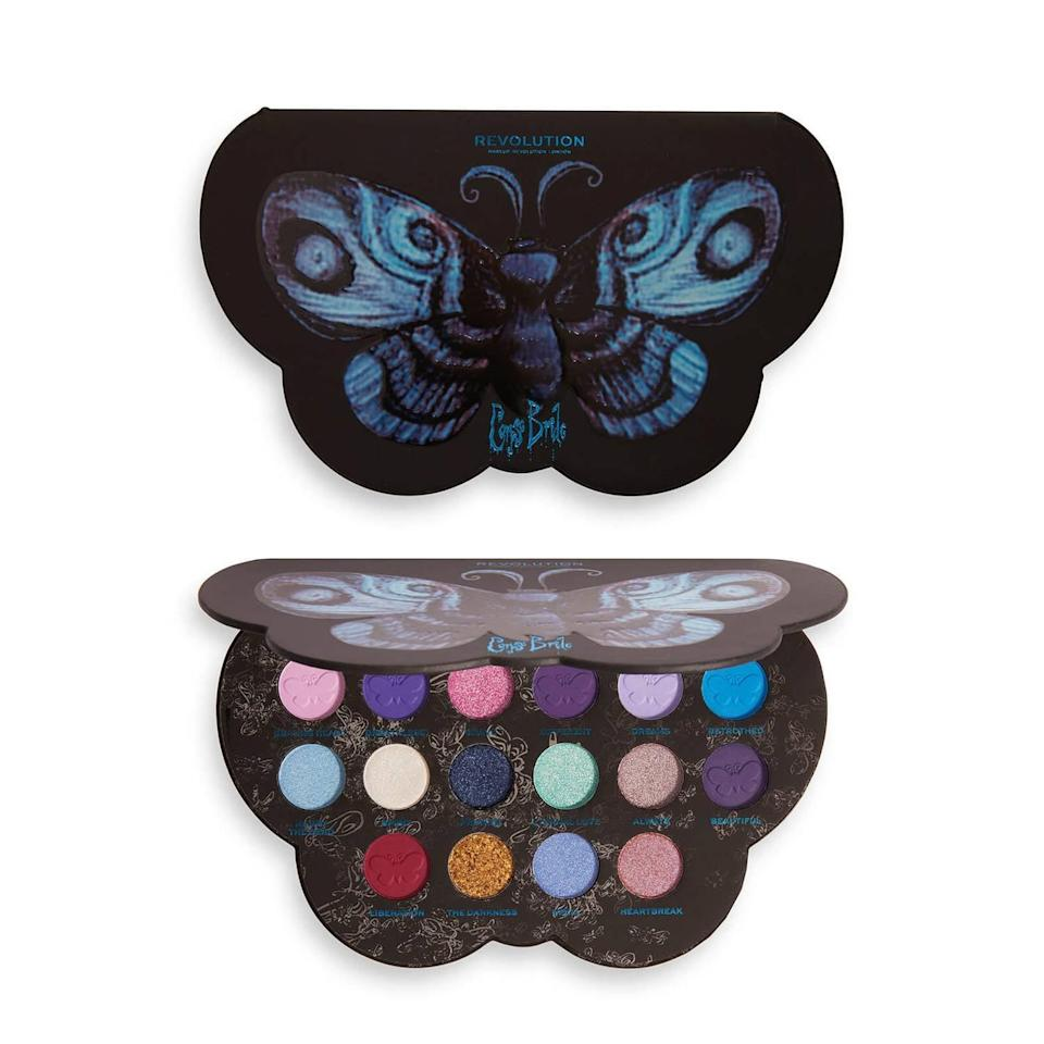 <p><span>Corpse Bride X Revolution Butterfly Shadow Palette</span> ($20)</p>