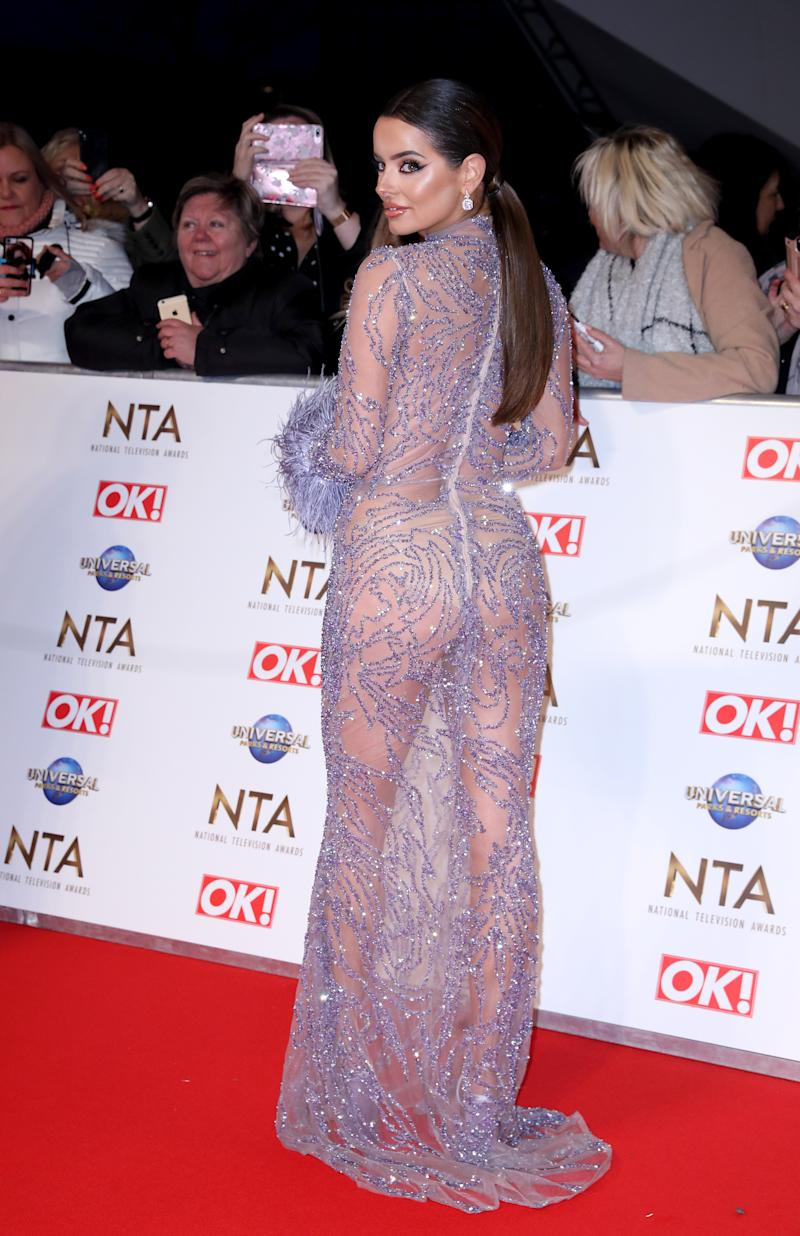 Maura Higgins attending the National Television Awards 2020 held at the O2 Arena, London.
