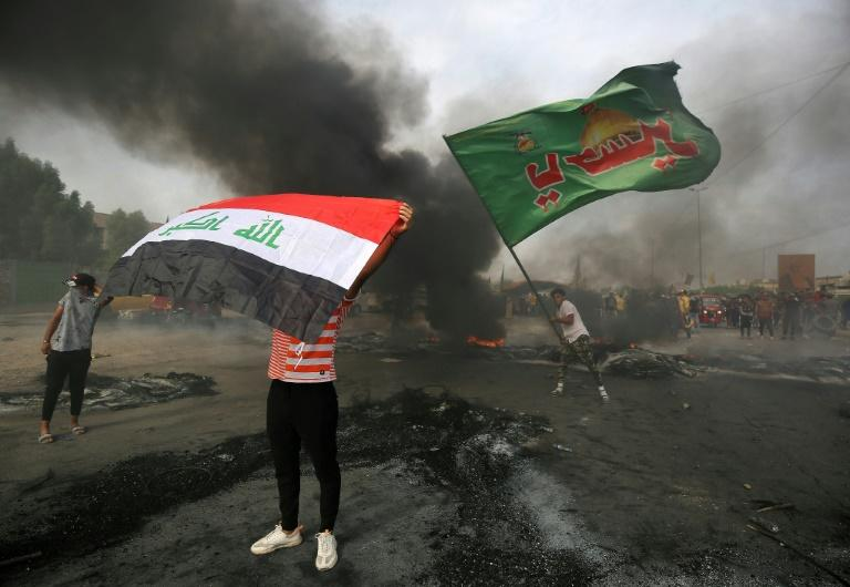 A wave of violent anti-government protests swept Iraq in early October with the government saying more than 150 people were killed during the demonstrations (AFP Photo/)