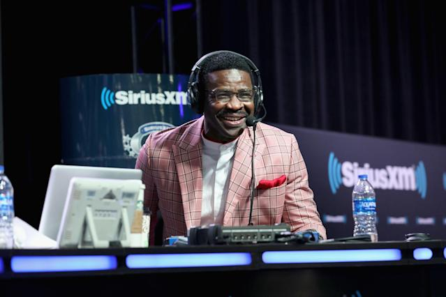Michael Irvin announced that he is cancer-free after undergoing a biopsy on his throat. (Photo by Cindy Ord/Getty Images)