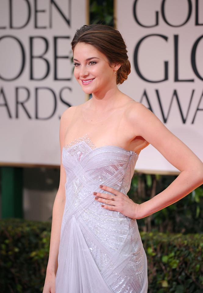 WORST: Shailene Woodley arrives at the 69th Annual Golden Globe Awards in Beverly Hills, California, on January 15.