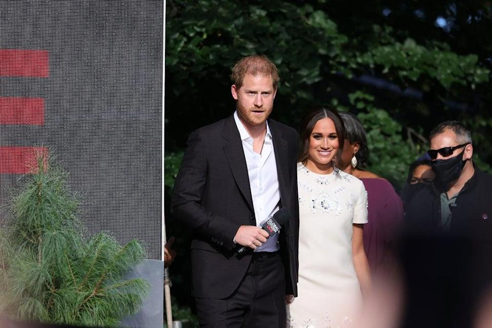 Prince Harry and Meghan Markle speak onstage during Global Citizen Live, New York (Getty Images for Global Citizen)