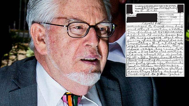 Calls for Rolf Harris to be denied parole after the angry lyrics from a song he wrote to insult his victims leaked to the media. Photo: Getty/Daily Mail