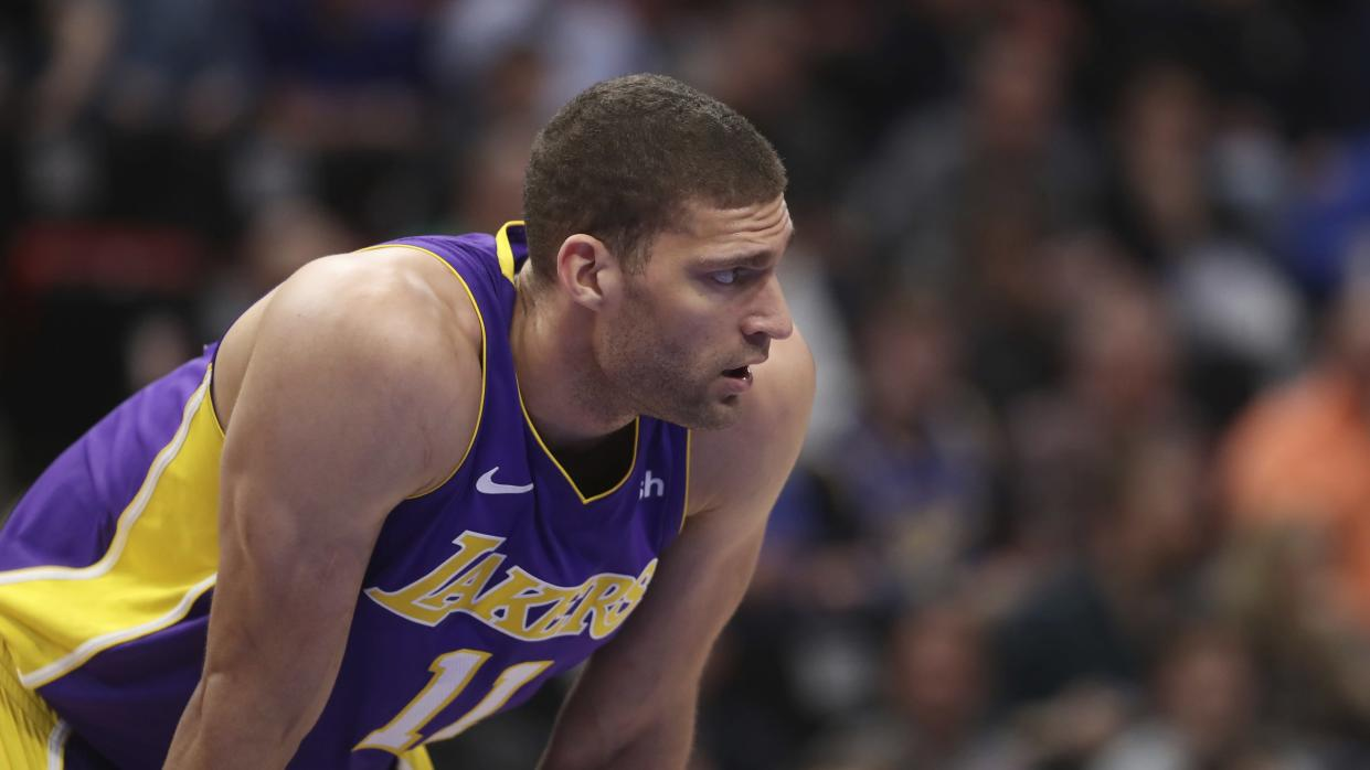 Brook Lopez shot well for the Lakers last season. (AP)