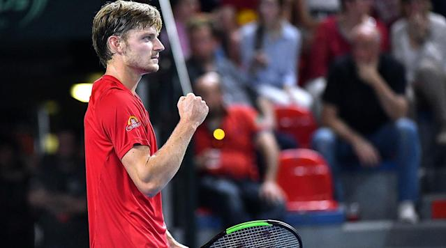 MONTE CARLO, Monaco (AP) Tenth-seeded David Goffin won an all-Belgian contest to reach the second round of the Monte Carlo Masters on Sunday as the first big tournament of the clay court season got underway.