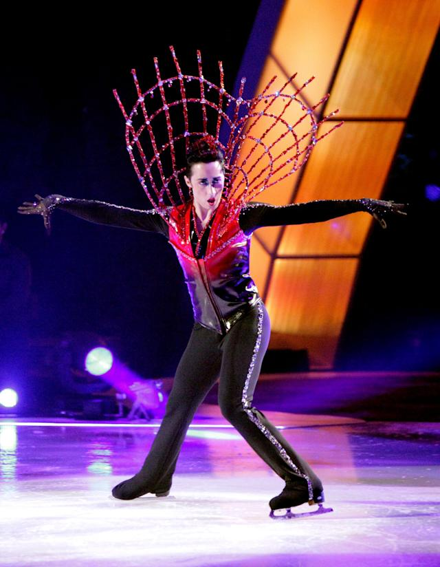 """Performing on an episode of """"Skating With The Stars"""" from November 2010."""