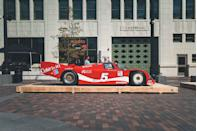 """<p>Powered by a big turbo air-cooled 2.8-liter flat-six, this 962 IMSA GTP was piloted by the legendary Bob Akin. The 1980s Coke Is It! slogan and red-and-white livery are bright reminders of early IMSA racing excitement. Even today, Porsche and Coke have neighboring headquarters in Atlanta, and this fantastic livery recently <a href=""""https://www.caranddriver.com/news/a29093965/porsche-classic-racing-livery-coke/"""" rel=""""nofollow noopener"""" target=""""_blank"""" data-ylk=""""slk:reappeared on the 911 RSR's final IMSA race"""" class=""""link rapid-noclick-resp"""">reappeared on the 911 RSR's final IMSA race</a> there. Akin raced this 962 for two years with modest success. The car's two most memorable moments were its violent wreck after being blindsided at the <a href=""""https://www.youtube.com/watch?v=un2SwW5lHeA&t=31s"""" rel=""""nofollow noopener"""" target=""""_blank"""" data-ylk=""""slk:500KM Charlotte in 1984"""" class=""""link rapid-noclick-resp"""">500KM Charlotte in 1984</a> and its first-place finish at the 1986 12 Hours of Sebring.</p>"""
