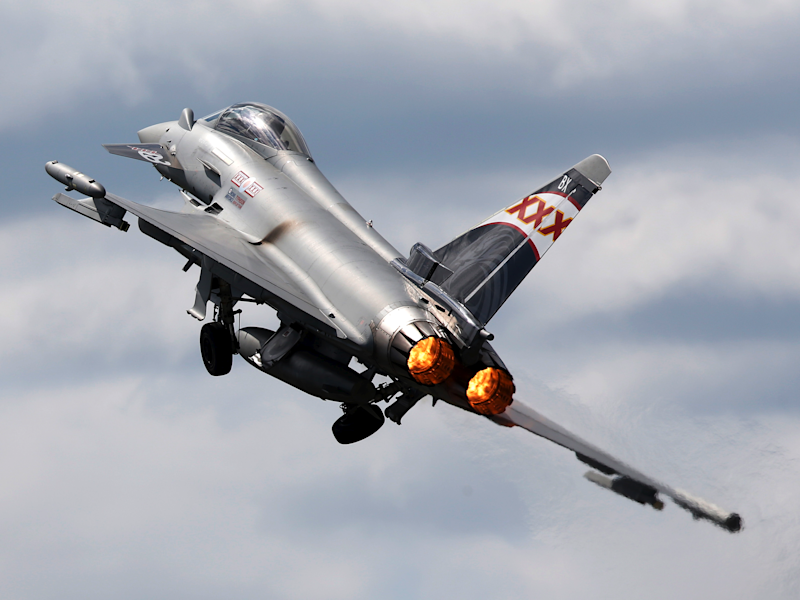 VIDEO: The shocking moment a Eurofighter Typhoon airshow