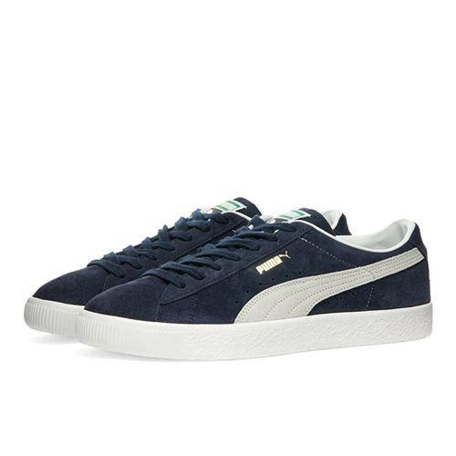 "<p><a class=""link rapid-noclick-resp"" href=""https://www.endclothing.com/gb/puma-suede-vtg-374921-07.html"" rel=""nofollow noopener"" target=""_blank"" data-ylk=""slk:SHOP"">SHOP</a></p><p>You own a black pair of trainers, and you own a white pair, and you think: all the staples covered. Well, you thought wrong, didn't you, because navy completes the holy trinity, and in the shell of Puma's retro VTG, it's a shade that'll stay in your rotation for quite some time.</p><p>Suede VTG Trainers, £79, <a href=""https://www.endclothing.com/gb/puma-suede-vtg-374921-07.html"" rel=""nofollow noopener"" target=""_blank"" data-ylk=""slk:endclothing.com"" class=""link rapid-noclick-resp"">endclothing.com</a></p>"