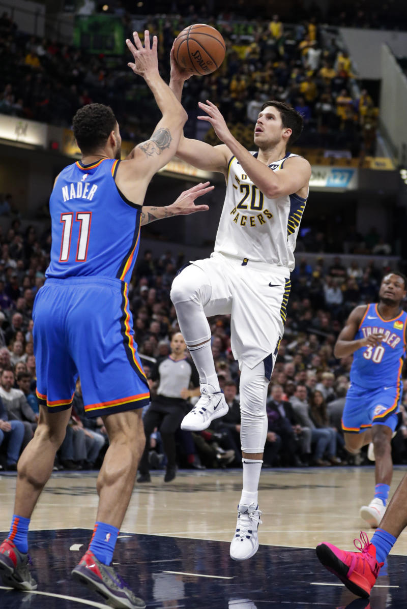 Warren scores 23 to lead Pacers over Thunder 111-85