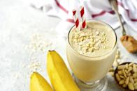 <p>Blend milk, frozen banana, and PB Powder. Loads of nutrition, tons of flavor.</p>