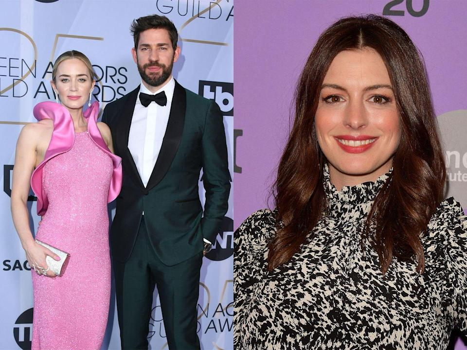"""<p>We've got Anne Hathaway to thank for this relationship, after Krasinski <a href=""""https://www.youtube.com/watch?v=7iN_5byfPs8"""" rel=""""nofollow noopener"""" target=""""_blank"""" data-ylk=""""slk:told Ellen DeGeneres"""" class=""""link rapid-noclick-resp"""">told Ellen DeGeneres</a> in a 2011 interview, that it was love at first sight for him when they went on a blind date in 2008. """"It was one of those things where I wasn't really looking for a relationship,"""" Krasinski explained. """"But I met her, and I was so nervous and I was like, 'oh no I'm going to fall in love with her.' I shook her hand and I went, 'I like you.'""""</p>"""