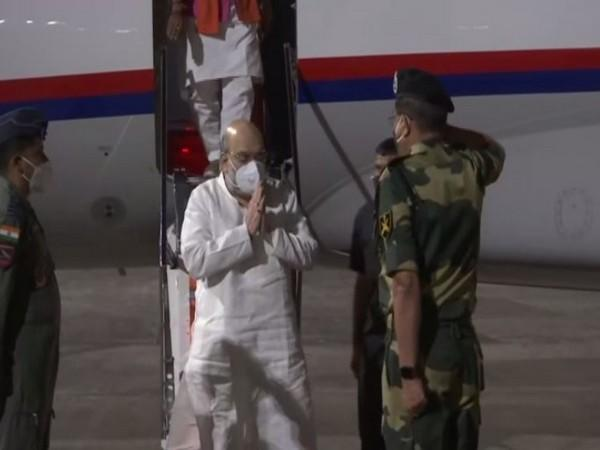 Union Home Minister Amit Shah arrived in Kolkata on Wednesday. (Photo/ANI)