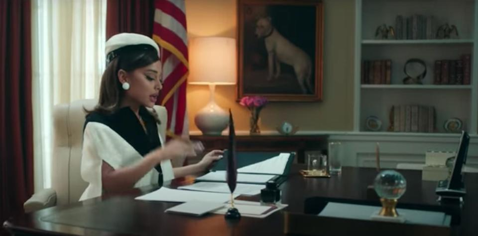Ariana Grande in the video for Positions (Photo: YouTube)