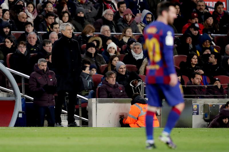 Quique Setien's appointment seems to have only exacerbated Barcelona's problems. (Photo by David S. Bustamante/Soccrates/Getty Images)