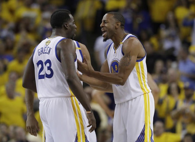 Draymond Green and Andre Iguodala will have to knock down shots to force the Pelicans to dial back their defensive pressure against the Warriors' ball-handlers. (AP)