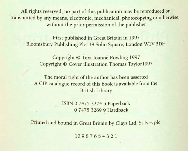 <em>The incorrect number sequence on the imprint page and J.K Rowling referred to as Joanne (SWNS)</em>