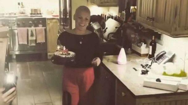 PHOTO: Pink holds a birthday cake for her son in a video she posted to her Instagram account. (pink/Instagram)