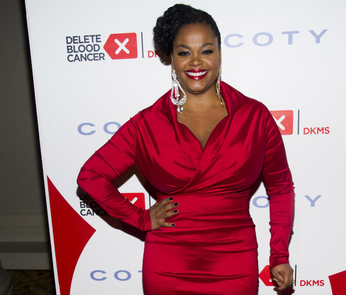 """FILE - In this May 1, 2013 file photo, Jill Scott attends the 2013 Delete Blood Cancer Gala in New York. The film academy announced Thursday, Feb. 13, 2014, it plans to present a live Oscar Concert celebrating the year's nominated composers. Scott is set to sing """"Happy"""" from """"Despicable Me 2"""" and songwriters Kristen Anderson-Lopez and Robert Lopez will perform their song, """"Let it Go"""" from """"Frozen."""" (Photo by Charles Sykes/Invision/AP)"""
