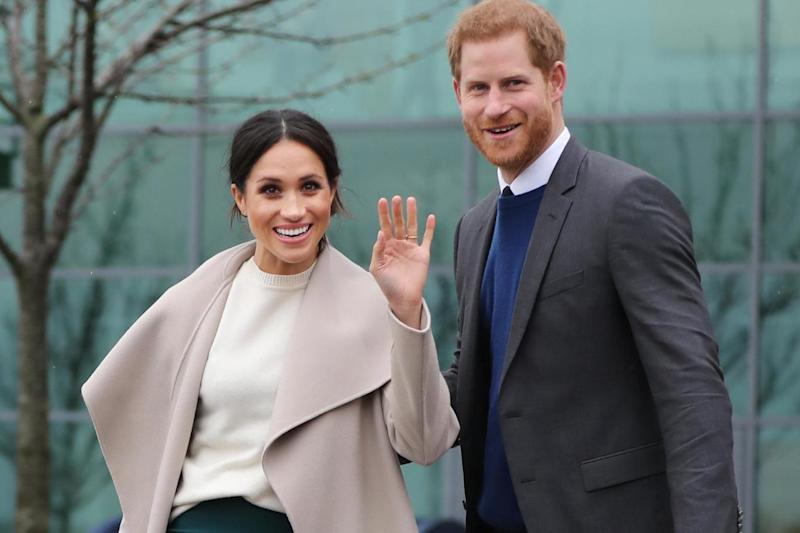 Ms Markle and Harry will meet delegates taking part in the Commonwealth Youth Forum (PA Wire/PA Images)