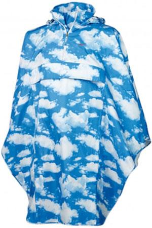 Agu blue clouds cycling poncho