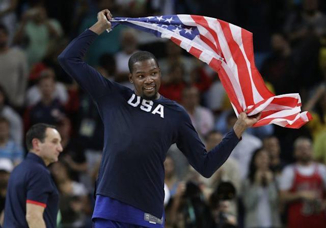 Kevin Durant earned his second gold medal Sunday. (AP)