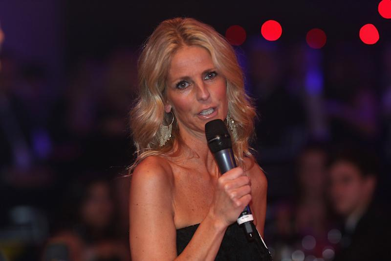 TV presenter Ulrika Jonsson hosts Dancing for United, a ballroom dancing event in aid of the Manchester United Foundation, at Old Trafford on March 7, 2013 in Manchester, England. (Photo by John Peters/Manchester United via Getty Images)