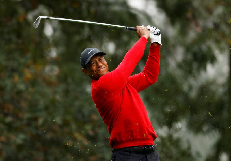 FILE PHOTO: Tiger Woods during the final round of The Masters