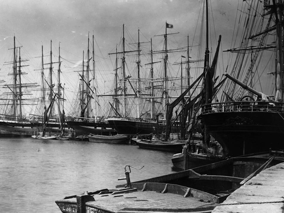 East India Docks, London, 1892 (Getty Images)