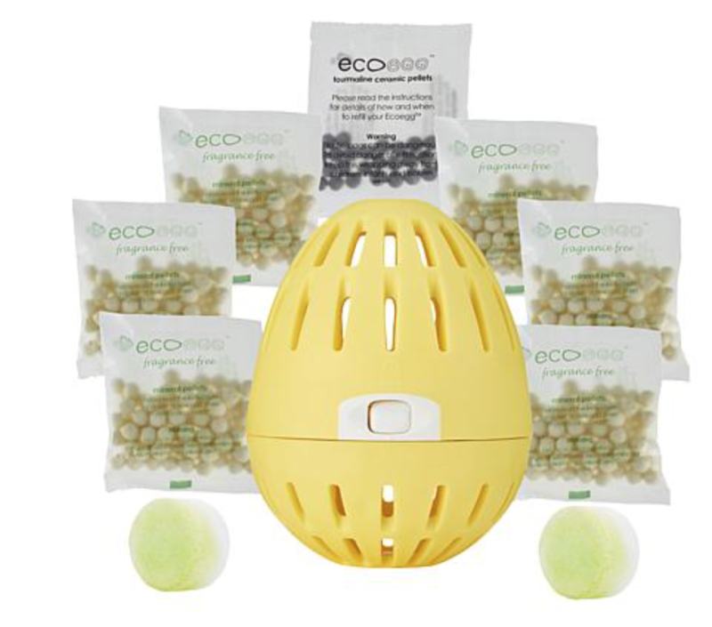 The Ecoegg comes with all the necessary pellets—and two washing machine cleaning tablets! (Photo: HSN)