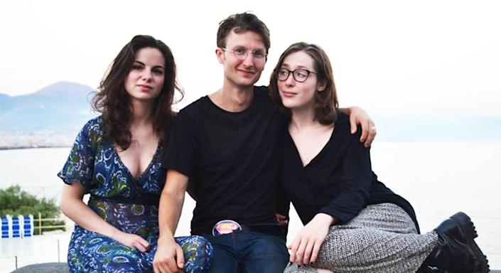 Inigo Lapwood was in a polyamorous triad relationship with Francesca (left) and Jess (right).