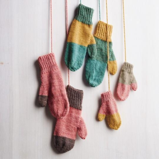 Knitting Patterns For Leftover Wool : It s time to raid your knitting basket. We love the look of these mismatched ...