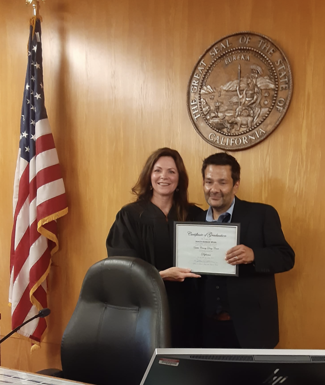 Shaun Weiss has graduated from drug court. (Facebook)