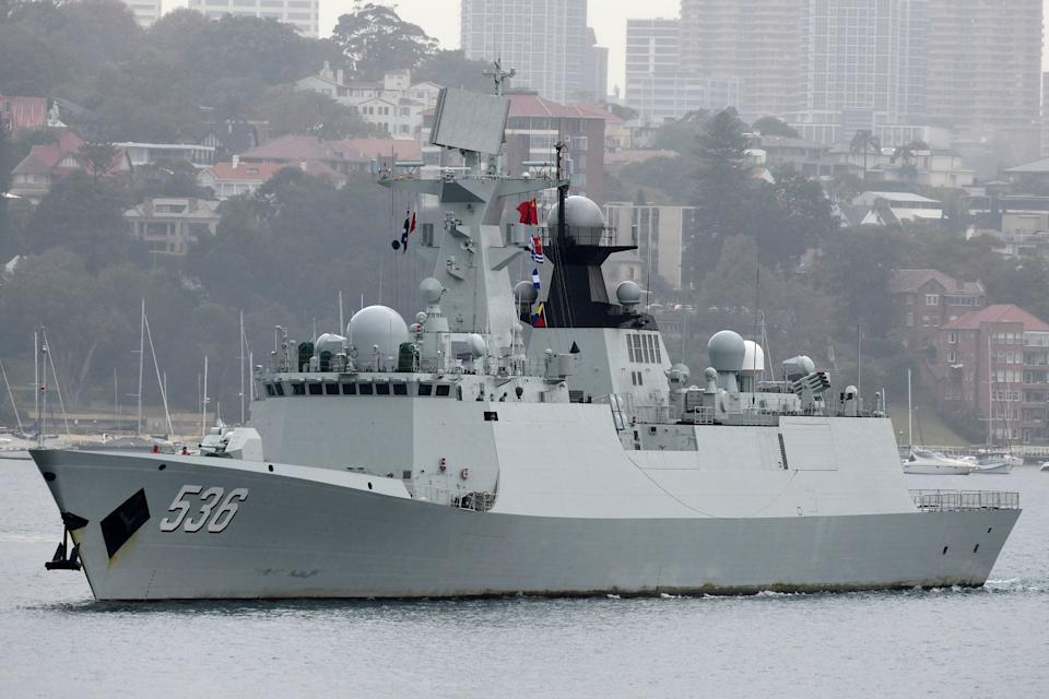One of three Chinese Navy ships that made a surprise four-day visit to Sydney this week. Source: AAP