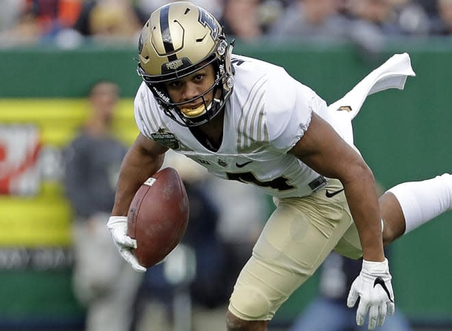 Purdue star Rondale Moore sidelined for the Iowa game