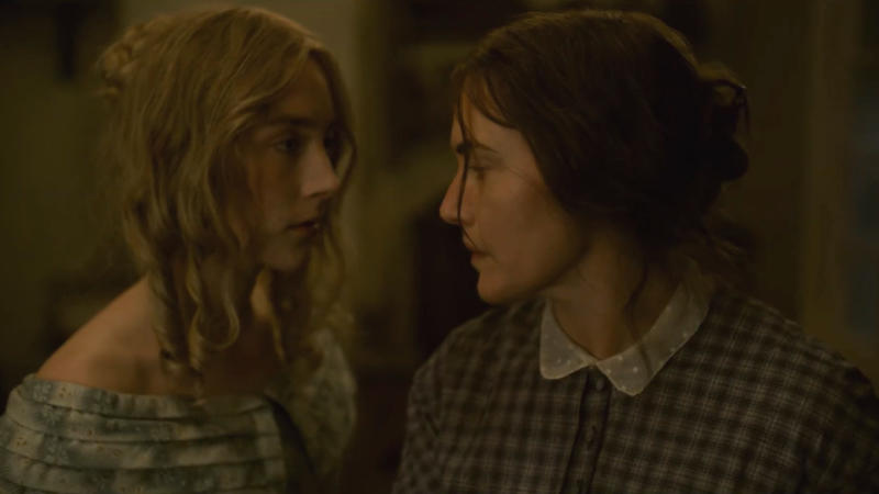 Saoirse Ronan and Kate Winslet in the trailer for 'Ammonite'. (Credit: Lionsgate)