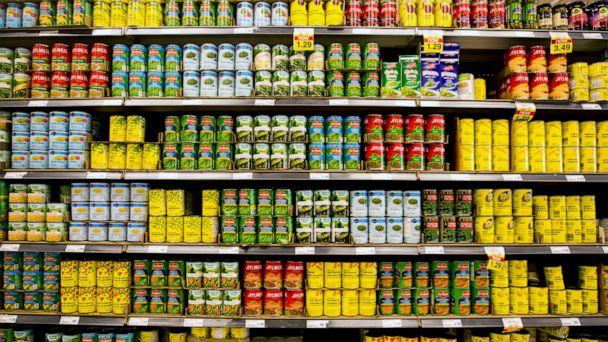 PHOTO: Various canned goods are displayed for sale at a Loblaws Cos. Ltd. store in Toronto, Ontario, Canada, Aug. 31, 2011. (Brent Lewin/Bloomberg via Getty Images)
