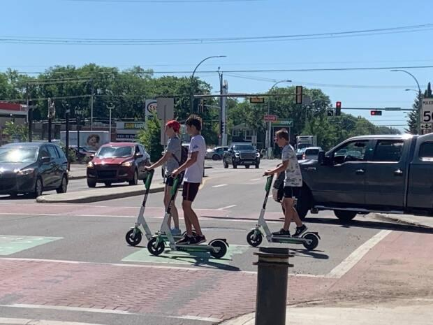 Youth under 18 are not permitted to use e-scooters though they are often seen using them in Edmonton.