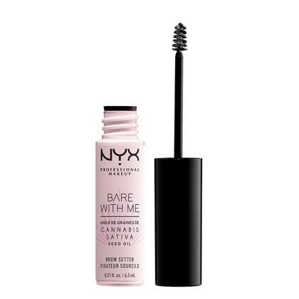 """<p>This <a href=""""https://www.popsugar.com/buy/NYX-Bare-Me-Cannabis-Sativa-Seed-Oil-Brow-Setter-479561?p_name=NYX%20Bare%20With%20Me%20Cannabis%20Sativa%20Seed%20Oil%20Brow%20Setter&retailer=nyxcosmetics.com&pid=479561&price=7&evar1=bella%3Aus&evar9=46496114&evar98=https%3A%2F%2Fwww.popsugar.com%2Fbeauty%2Fphoto-gallery%2F46496114%2Fimage%2F46496130%2FNYX-Bare-Me-Cannabis-Sativa-Seed-Oil-Brow-Setter&list1=shopping%2Cmakeup%2Cdrugstore%2Cdrugstore%20beauty%2Cnyx%20cosmetics&prop13=mobile&pdata=1"""" rel=""""nofollow"""" data-shoppable-link=""""1"""" target=""""_blank"""" class=""""ga-track"""" data-ga-category=""""Related"""" data-ga-label=""""https://www.nyxcosmetics.com/new/bare-with-me-cannabis-sativa-seed-oil-brow-setter/NYX_756.html?cgid=whats-new"""" data-ga-action=""""In-Line Links"""">NYX Bare With Me Cannabis Sativa Seed Oil Brow Setter</a> ($7) is meant to condition and soften your brows as it sets them. Cannabis sativa seed oil does not actually contain any CBD or THC, it is hemp seed oil that's high in antioxidants.</p>"""