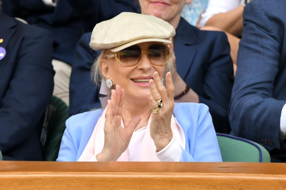 LONDON, ENGLAND - JULY 12: Princess Michael of Kent attends day eleven of the Wimbledon Tennis Championships at All England Lawn Tennis and Croquet Club on July 12, 2019 in London, England. (Photo by Karwai Tang/Getty Images)